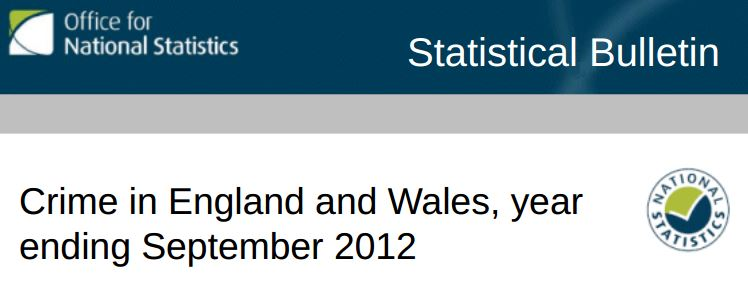 ONS crime figures 2012