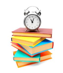 Clock & books - image