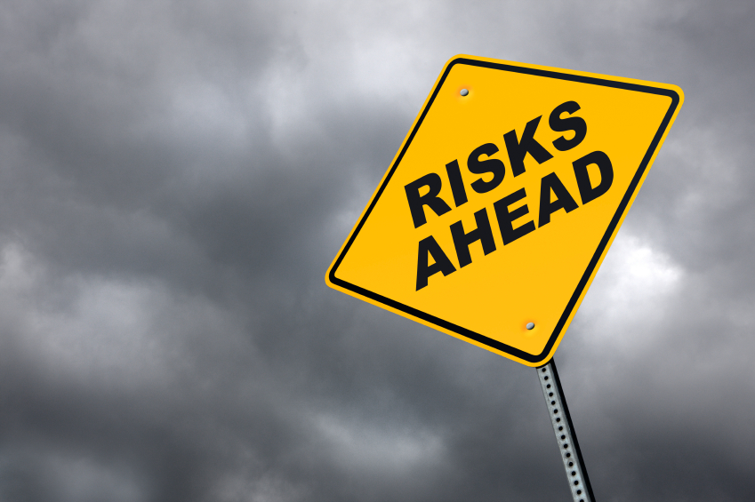 Risks ahead - signpost...